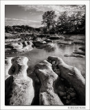 Limestone Formations, Frio River, Texas, 2012
