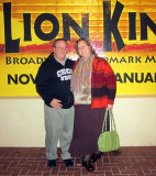 Alan and Donna attend The Lion King at the Orpheum Theatre