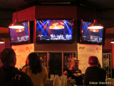 Civic Center bar with high-def TV screens. Hey, keep your eyes off the cleavage!