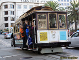 DECEMBER 29: Cable car at Union Square