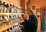 Donna at the Spice & Tea Exchange