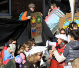 Climate Action parade ends as enviromentalists fight back against Big Oil and polluting smokestacks