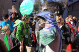 Climate Action parade on Commercial Street