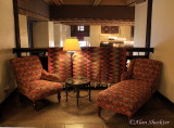 One of the many stately seating areas at the Ahwahnee