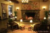 The Ahwahnee elevator lobby fireplace