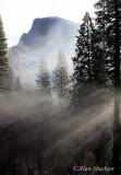 Half Dome in the fog