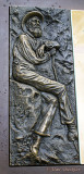 John Muir portrayed in metal