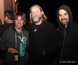 ALO's Steve Adams, Dave Brogan, Dan Lebo Lebowitz socialize before their sets