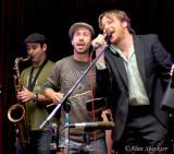 California Honeydrops' Jonny Bones, Ben Malament, Lech Weirzynski