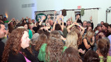 Sold-out crowd answers California Honeydrops' Lech Weirzynski dance challenge - alas no prizes were given :-)