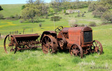 Tractor out to pasture, Cherokee