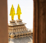 14 My favorite is this pair of translucent gold lotuses on a tower over the tourist entrance to the City Palace.JPG