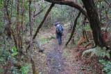 Rob and Jonathan walking up Mt. Karthala