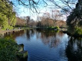The little lake in the city centre on a gloriously sunny winter's day