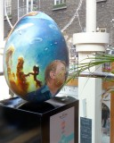 A giant blue egg