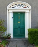 The classic green door of a friend's house