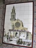 Córdoba. Mosaico sobre la Iglesia de San Lorenzo
