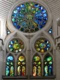 La Sagrada Familia. Vitralls de la Nau Central