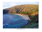 Hanauma Bay in the early morning sun.