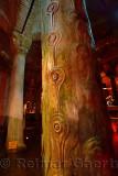 Peacock eyed tears marble columns of the underground Basilica Cistern of Istanbul Turkey