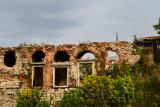 Relic of windows of the Boucoleon Palace built on Marmara Sea walls Istanbul Turkey
