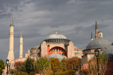 Ancient Hagia Sophia with tomb of Sultan Selim and Murat in Istanbul Turkey