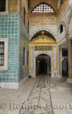 Corridor of Concubines to the Main entrance to the Harem and sultan in the Topkapi Palace Istanbul