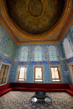 Twin pavilion Crown Prince apartment with original ceiling in the Topkapi Palace Harem Istanbul