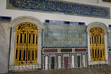 Windows and outside wall of Pavilion of the Blessed Mantle Topkapi Palace Istanbul
