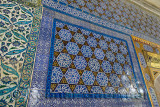 Ornate tiles on outside wall of the Chamber of the Blessed Mantle Topkapi Palace Istanbul