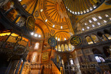 Inside the Hagia Sophia Istanbul at the raised kiosk of the Sultans private lodge