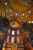 Golden Apse with mosaic of Mary and Christ child in Hagia Sophia Istanbul