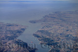 Aeral view of Istanbul Turkey with Golden Horn Bosphorus Strait and Marmara Sea