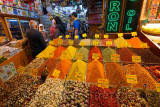 Local Turkish family shopping at a store in the Egyptian Spice Bazaar Istanbul
