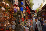 Local Turkish people shopping near the Egyptian Spice Market in Istanbul