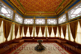 Interior of the wooden Terrace Kiosk belvedere structure at Topkapi Palace Istanbul