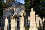 Grave stones and Mausoleum in the Ottoman cemetery at Eyup Sultan Mosque Istanbul