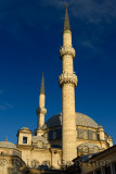Minarets and domes of Eyup Sultan Mosque Istanbul Turkey