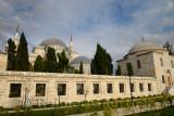 Stone palisade of Suleymaniye Mosque grounds Istanbul Turkey