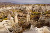 Phallic Fairy Chimneys in Love Valley Goreme National Park Turkey with evening sun