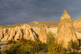 Ancient Church and home carved out of volcanic tuff in the Red Valley Cappadocia Turkey