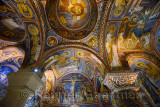 Well preserved frescoes of New Testament scenes in the Dark Church at Goreme Open Air Museum Turkey