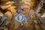 Byzantine frescoes of the life of Christ in the Dark Church at Goreme Open Air Museum Turkey