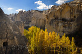 Goreme Valley cave dwelling pigeon houses at Open Air Museum Cappadocia Turkey in the Fall