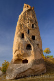 Single appartment carved out of a volcanic tuff fairy chimney at Uchisar Cappadocia Turkey