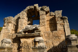 Remains of the Nymphaeum fountain with statue of river god Kestros at Perge archaeological site Turkey
