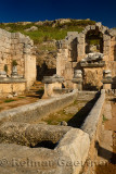 Nymphaeum water nymph monument fountain with River god Kestros at Perge archaeological site Turkey