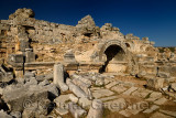 Ruins at the Southern Baths at Perge archaeological site Perge near Antalya Turkey