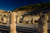 Bouleuterion for council meetings and small theatre Odeon for concerts in ancient Ephesus Turkey