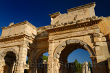 Arched gates of freed slaves Mazaeus and Mithridates to the Tetrogonos Agora of Ephesus Turkey